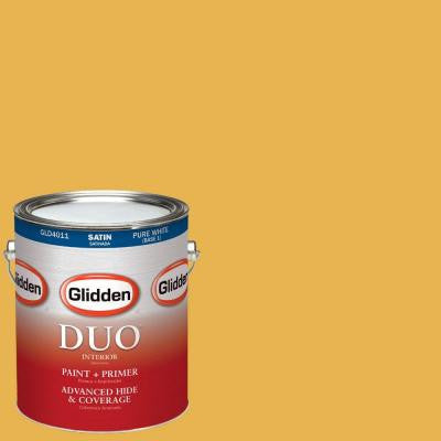 1-gal. #HDGY14D Golden Rae Satin Latex Interior Paint with Primer