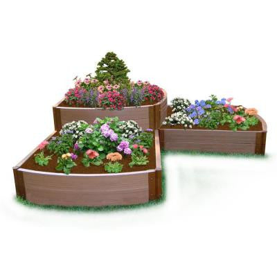 Two Inch Series 98 in. x 98 in. x 22 in. Composite Split Waterfall Raised Garden Bed Kit
