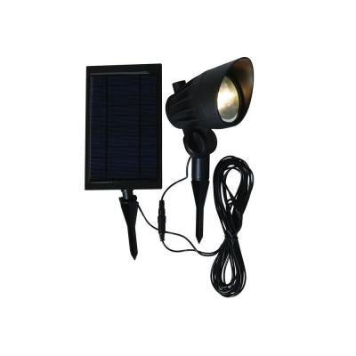 Solar Black LED Outdoor Spotlight