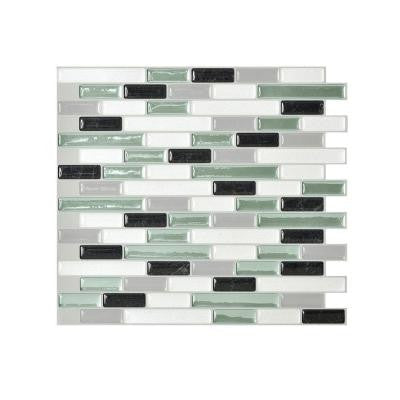 10.25 in. x 9.125 in. Mosaic Decorative Wall Tile Muretto Prairies in Green (6-Pack)