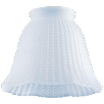 3-3/4 in. Frosted Beaded Bell with 2-1/4 in. Fitter and 4-3/4 in. Width