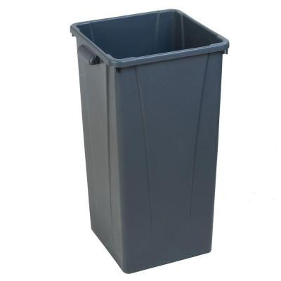 Centurian 23 Gal. Gray Square Trash Can (4-Case)