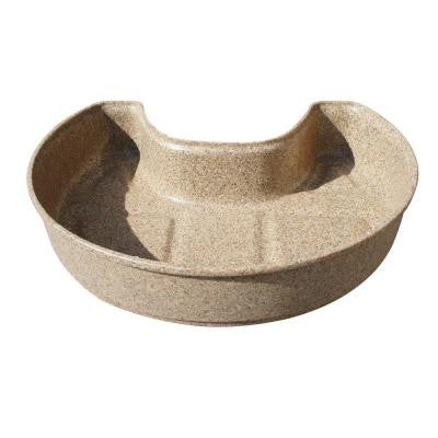 Planter for Flat Back Sandstone Rain Barrel