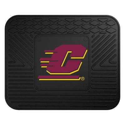 NCAA Central Michigan University Black Heavy Duty 1-Piece 14 in. x 17 in. Vinyl Utility Mat