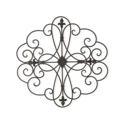 25 in. x in. 24.5 in. Scroll Curls Iron Wall Decor