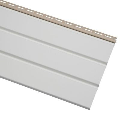 12.75 in. x 144 in. White Vinyl Economy T4 Solid Soffit
