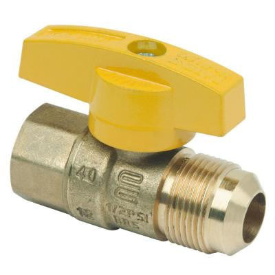 5/8 in. O.D. Flare (15/16-16 Thread) x 1/2 in. FIP Gas Ball Valve