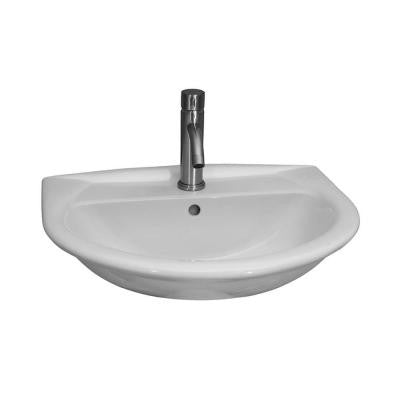 Karla 605 Wall-Hung Bathroom Sink in White