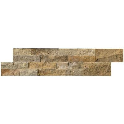 Picasso Ledger Panel 6 in. x 24 in. Natural Travertine Wall Tile (10 cases / 60 sq. ft. / pallet)