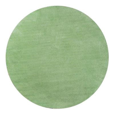 Cozy Shag Spearmint Green 8 ft. x 8 ft. Round Area Rug