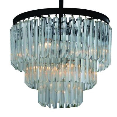 Caesar Collection 9-Light Matte Black Chandelier