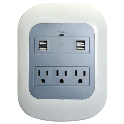 3-Outlet Surge Protector Tap