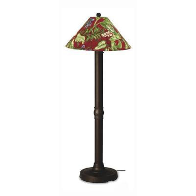 Seaside 60 in. Outdoor Bronze Floor Lamp with Lacquer Shade