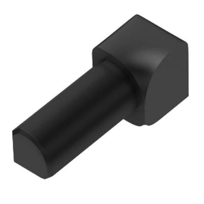 Rondec Graphite Anodized Aluminum 1/4 in. x 1 in. Metal 90 Degree Inside Corner
