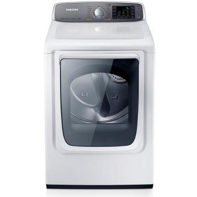 7.4 cu. ft. Gas Dryer with Steam in White