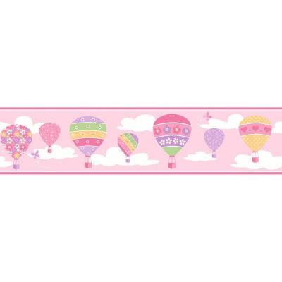 6.75 in. H Balloons Pink Border