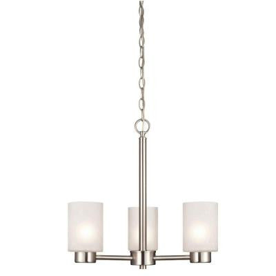 Sylvestre 3-Light Brushed Nickel Chandelier