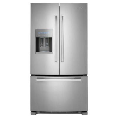 24.7 cu. ft. French Door Refrigerator in Monochromatic Stainless Steel