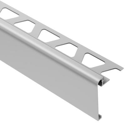 Rondec-Step Satin Anodized Aluminum 3/8 in. x 8 ft. 2-1/2 in. Metal Tile Edging Trim