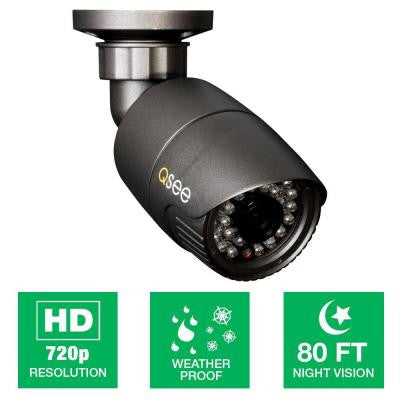 Wired 720p HD Indoor/Outdoor Bullet Camera with 80 ft. Night Vision