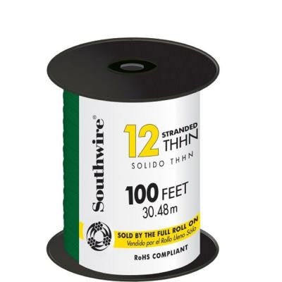 100 ft. 12 Stranded THHN Wire - Green