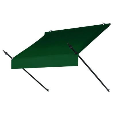4 ft. Designer Awning (25 in. Projection) in Forest Green