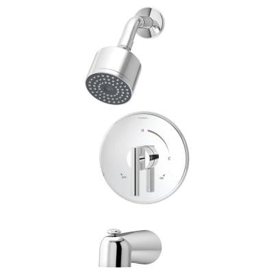 Dia 1-Handle Tub and Shower Faucet In Chrome (Valve Not Included)