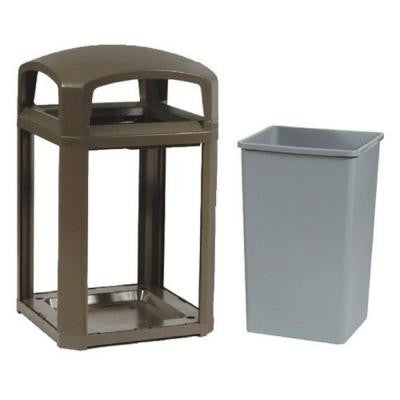 Landmark Series 50 Gal. Domed Frame Trash Can with Rigid Liner