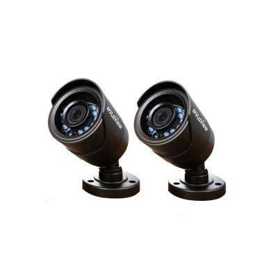 Wired 600 TVL Indoor/Outdoor Bullet Security Camera with 65 ft. Night Vision (2-Pack)