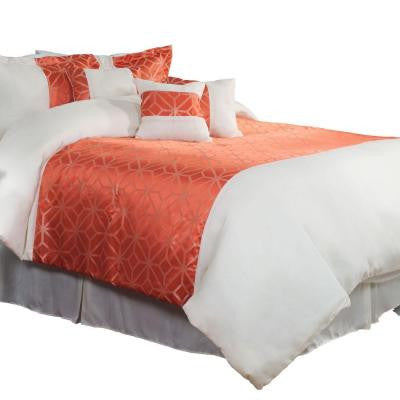 Morgan Orange 7-Piece King Comforter Set