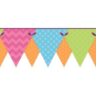 8.5 in. Cool Kids Geometric Pennant Border