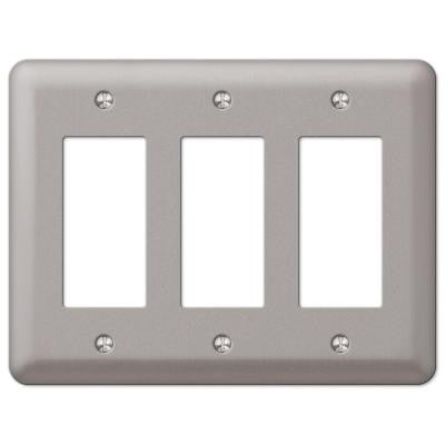 Steel 3 Decora Wall Plate - Pewter
