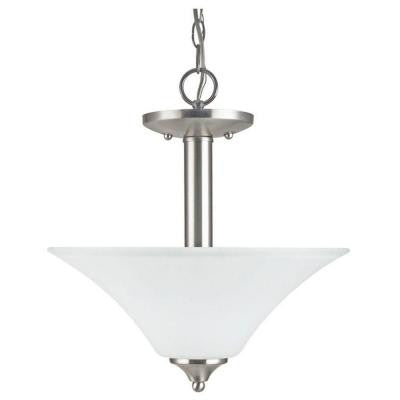 Holman 2-Light Brushed Nickel Semi-Flush Mount Light