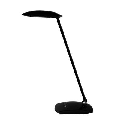 5.6 in. Black Adjustable LED Desk Lamp