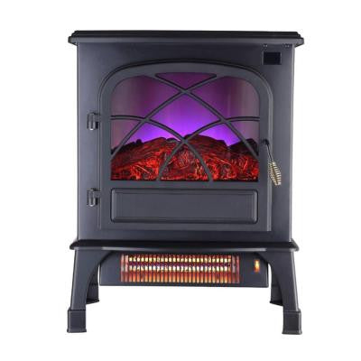 1,500-Watt 2 Wrapped Element Infrared 3 Sided LED Stove with Remote Control