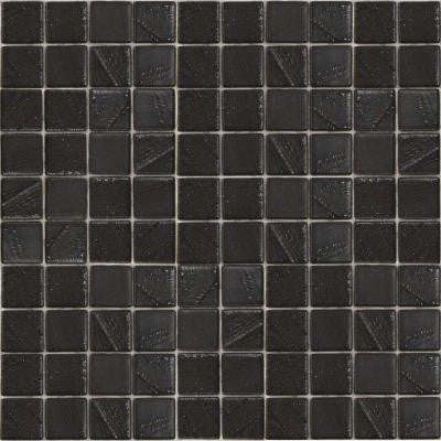 Metalz Palladium-1011 Mosiac Recycled Glass Mesh Mounted Tile - 3 in. x 3 in. Tile Sample