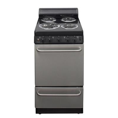 20 in. 2.42 cu. ft. Electric Range in Stainless Steel