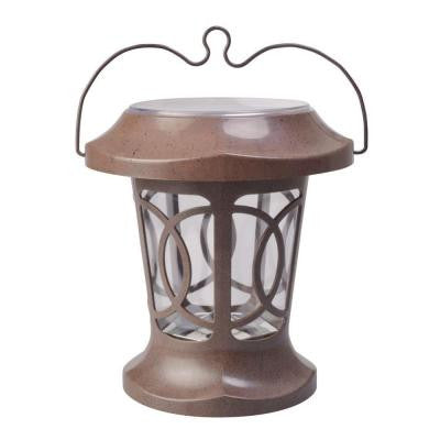 Bradbury Brown Solar Powered Outdoor Hanging Light