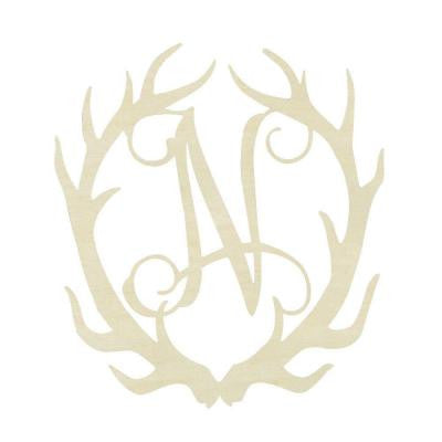 19.5 in. Unfinished Antler Monogram (N)