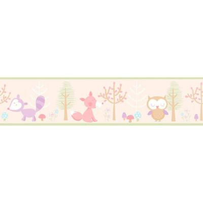 5.75 in. H Happy Forest Friends Pink Border
