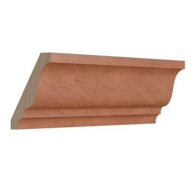 1.5 in. x 96 in. Crown Molding in Caramel