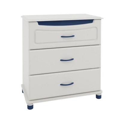 3-Drawer Youth Dresser in White Stipple