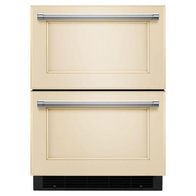 Double Drawer 4.7 cu. ft. Freezerless Refrigerator in Overlay Panel-Ready, Counter Depth