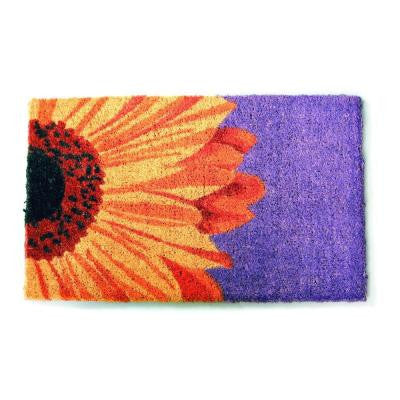 One Sunflower 18 in. x 30 in. Hand Woven Coir Door Mat