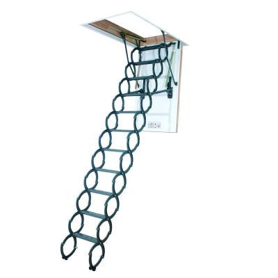 9 ft. 6 in., 25 in. x 47 in. Insulated Steel Scissor Attic Ladder with 300 lb. Load Capacity Not Rated