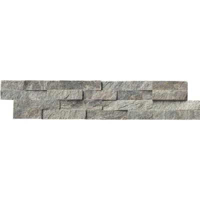 Sage Green Ledger Panel 6 in. x 24 in. Natural Quartzite Wall Tile (10 cases / 60 sq. ft. / pallet)