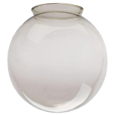 7-1/2 in. Handblown Gloss Smoke Globe with 4 in. Fitter