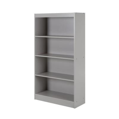 Axess 4-Shelf Bookcase in Soft Gray