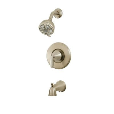 Pasadena Single-Handle 3-Spray Tub and Shower Faucet in Brushed Nickel