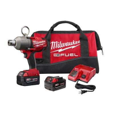 M18 Fuel 18-Volt Lithium-Ion Brushless Cordless 7/16 in. Hex High Torque Impact Wrench Kit